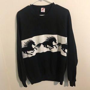 Vintage black horse sweatshirt